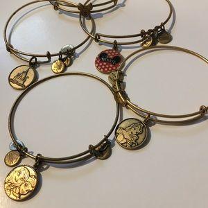 Set of 5 Alex and Ani Disney Bracelets